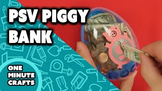 PSV PIGGY BANK - One Minute Crafts