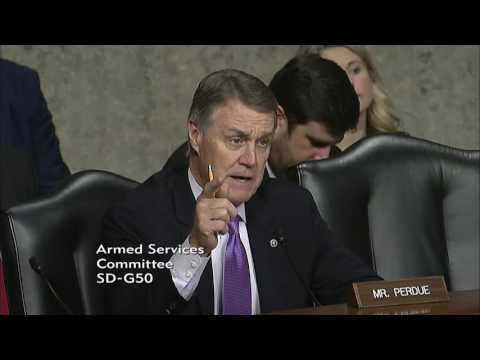 Senator David Perdue In Senate Armed Services Committee