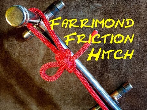 Farrimond Friction Hitch Great Bushcraft Knot For a Ridge Line Tensioner, Washing Line Tension Knot