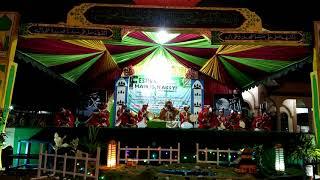 Penampilan grup Habsy asal Batumandi di festival habsy Tatakan bersholawat