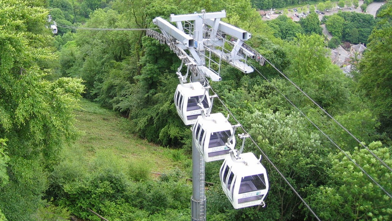 Matlock Bath Cable Cars In Time Lapse As Seen From The