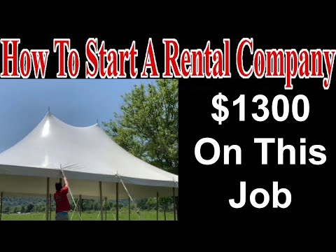 I Made $1300 On This Job - Start A Party Rental Company