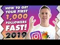 Get Your First 1000 Instagram Followers FAST in 2019!