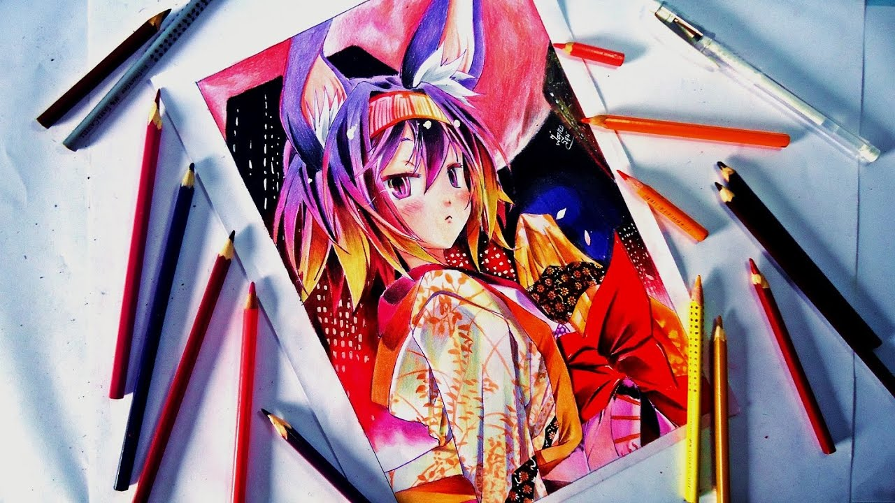 Speed Drawing Izuna ( No Game No Life ) YouTube