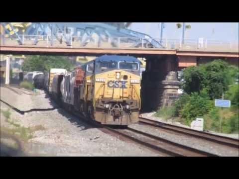 Morning Railfannning in Pittsburgh, Pennsylvania.  8/16/2016.