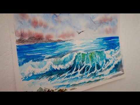 How To Draw The Sea And Waves In Watercolor