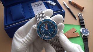 Squale 500m Swiss Automatic Dive Watch Review +Official Squale Mesh Bracelet 1521-026-BLB
