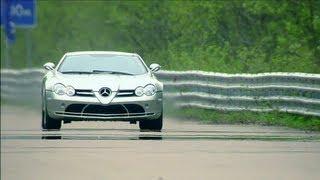 Mercedes McLaren SLR vs Aston Martin DBS Mansory vs Nissan GT-R