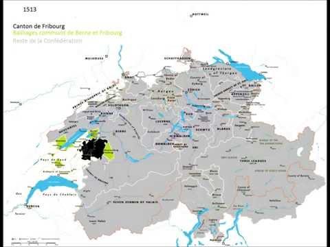 Évolution territoriale du canton de Fribourg (1473-1803)