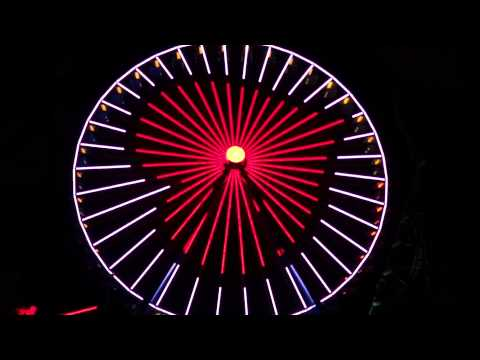 NEW at Cedar Point - Incredible Ferris Wheel Light Show 2012