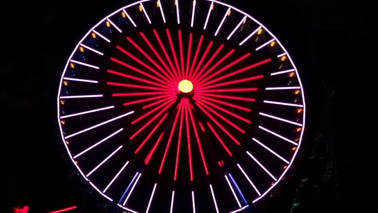 NEW at Cedar Point - Incredible Ferris Wheel Light Show ...