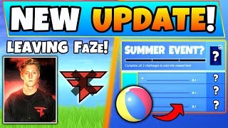 Fortnite Update: TFUE LEAVING FaZe, Summer Event?!, and NEW Skins in Battle Royale!