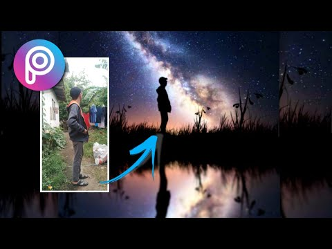 PICSART PRO  HOW TO MAKE SILHOUETTE  MILKYWAY PHOTO EDIT TUTORIAL •