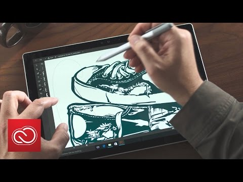 Adobe Illustrator + Microsoft Surface Pro | Adobe Creative Cloud