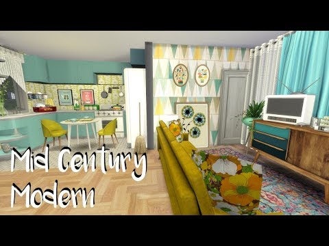 The Sims 4: Speed Build: Mid Century Home