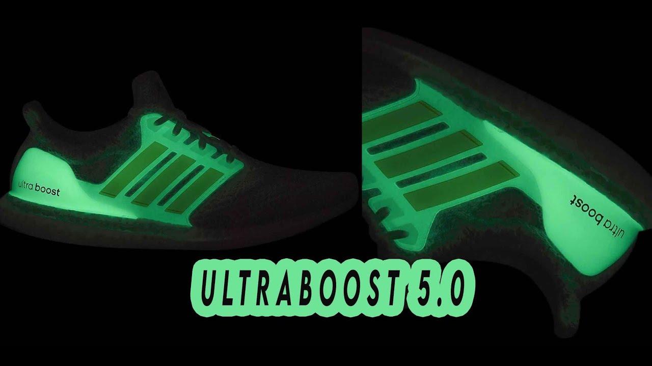 NEW ADIDAS ULTRABOOST 5.0 GLOW IN THE DARK 2021