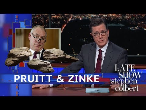 See Colbert Joke - Are there Skeletons In The Cabinet!