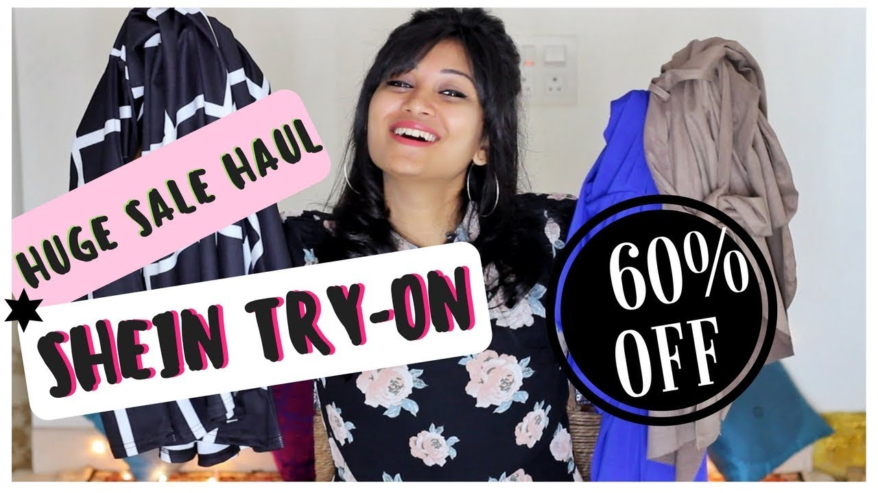c4305ebb7628 Shein Haul | Try-on haul | mini review | Huge SALE 60% OFF | Bangalore  shopping