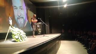 Marko Luis drži govor na komemoraciji Dalibora Andonova Grua