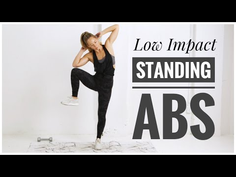 Low Impact STANDING ABS Workout // With Weights