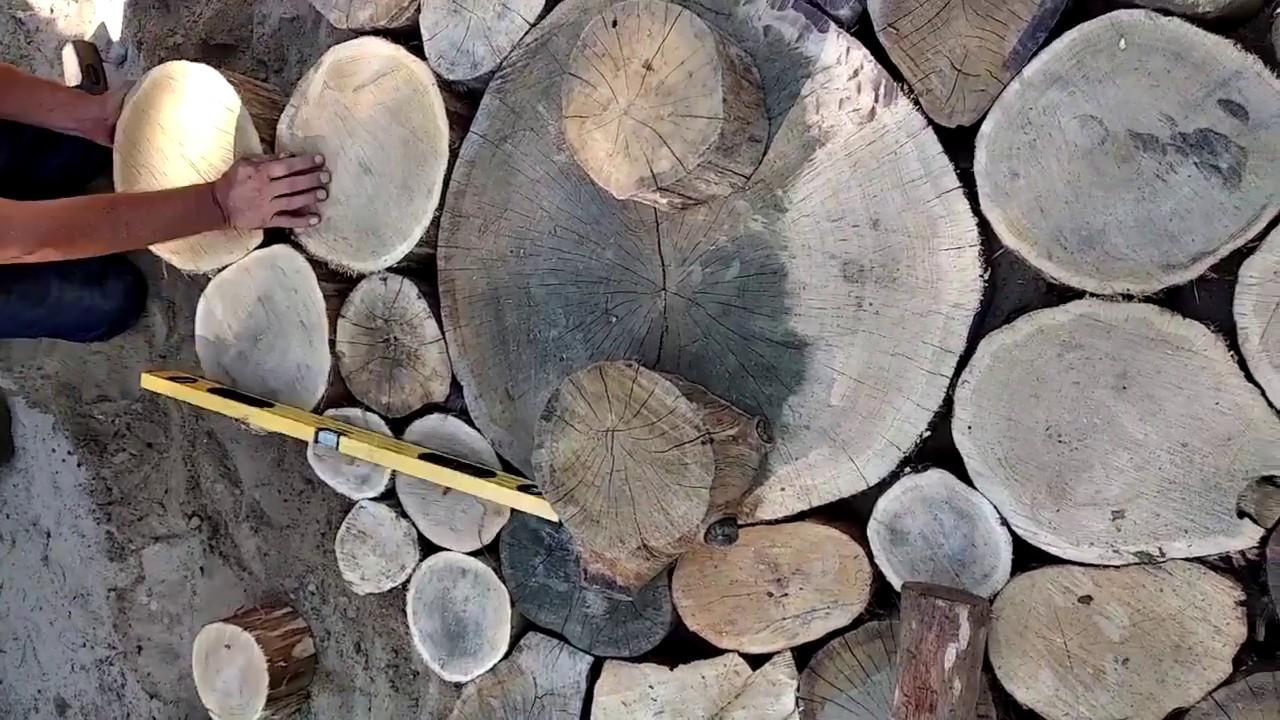 Уютная садовая дорожка из спилов дерева на даче- своими руками.