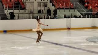 Катя Цаба 9 лет 2ой спортивный Короткая программа Пружаны 24 апреля 2021 3 место