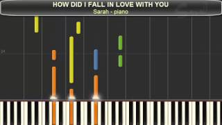 HOW DID I FALL IN LOVE WITH YOU - Backstreet Boys (Piano ver.)