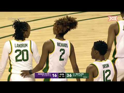 Kansas State At Baylor Women's Basketball Highlights