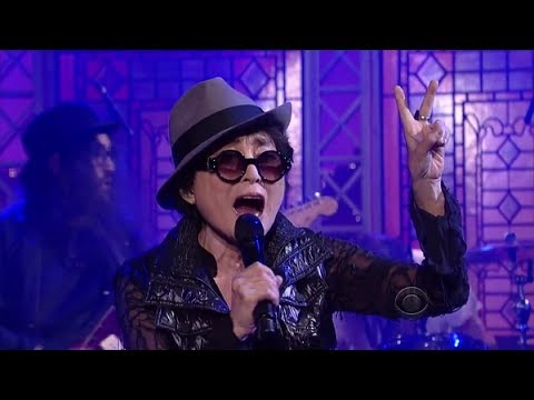 """[HD] Yoko Ono Plastic Ono Band - """"Cheshire Cat Cry"""" (feat. The Flaming Lips) 10/2/13 David Letterman"""