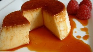 Making creme caramel