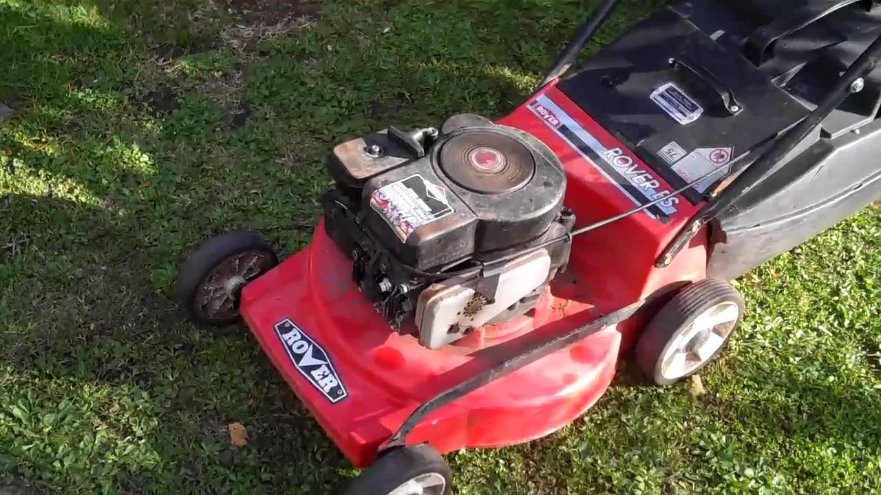 Rover 4 Stroke Lawnmower Youtube