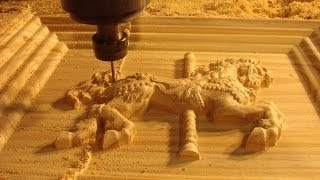 45  CNC router 6090 machining a 3D fairground horse