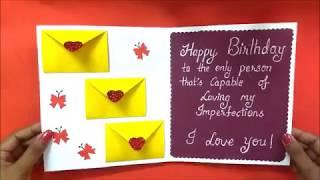 Beautiful Handmade Birthday Greeting Card | DIY birthday card | Tutorial