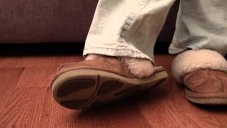 Repeat youtube video Crystal barefoot in stinky ugg shoes