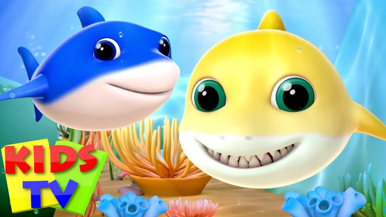 Baby Shark Song   Let's Sing Baby Shark Song   Baby Shark Family   Nursery Rhymes & Songs - Kids Tv