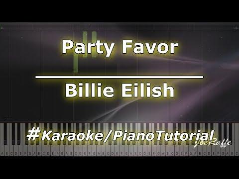 Billie Eilish - Party Favor KaraokePianoTutorialInstrumental