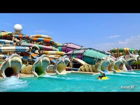 [HD] Slithers Water Slides Ride – Yas Waterworld Water Park
