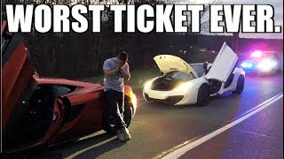 2 McLarens BUSTED FLYING PAST A COP.... **NOT CLICKBAIT**