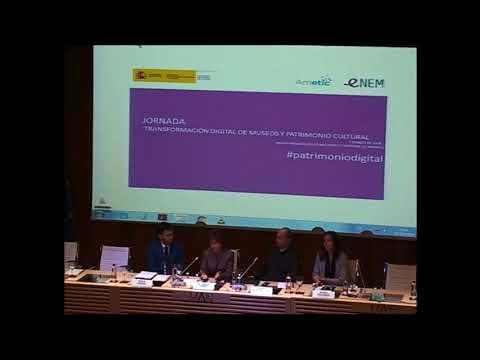 Presentacion de la Jornada Transformación digital de museos y patrimonio cultural