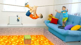 The Floor is Minecraft Lava.