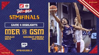 Highlights G4: Meralco vs Ginebra | PBA Philippine Cup 2020 Semifinals