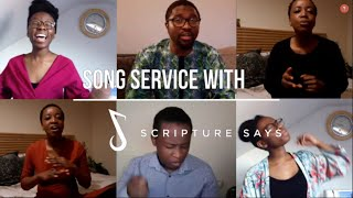 Days of Elijah / Sweet By and By worship medley - Song Service with Scripture Says (acappella)