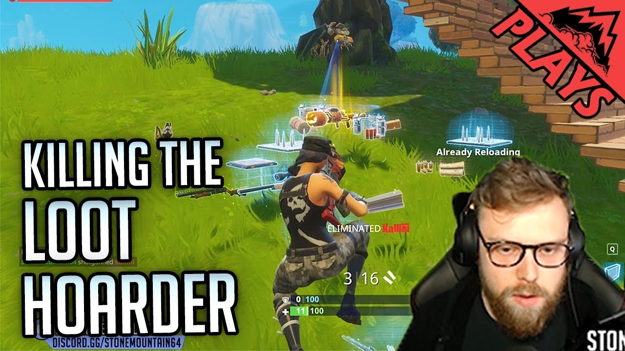 Killing The Loot Hoarder Fortnite Battle Royale 7 Pc Epic Games Fortnite Br Gameplay