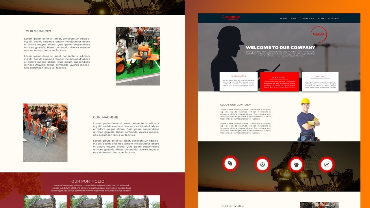 Create Website Template in Photoshop // How to Design Template in Photoshop