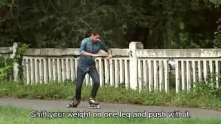 Как кататься на роликах  Обучение технике отталкивания от askroller