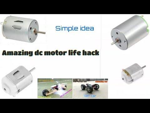 3 Simple ideas - DC motor life hack - Amazing idea car
