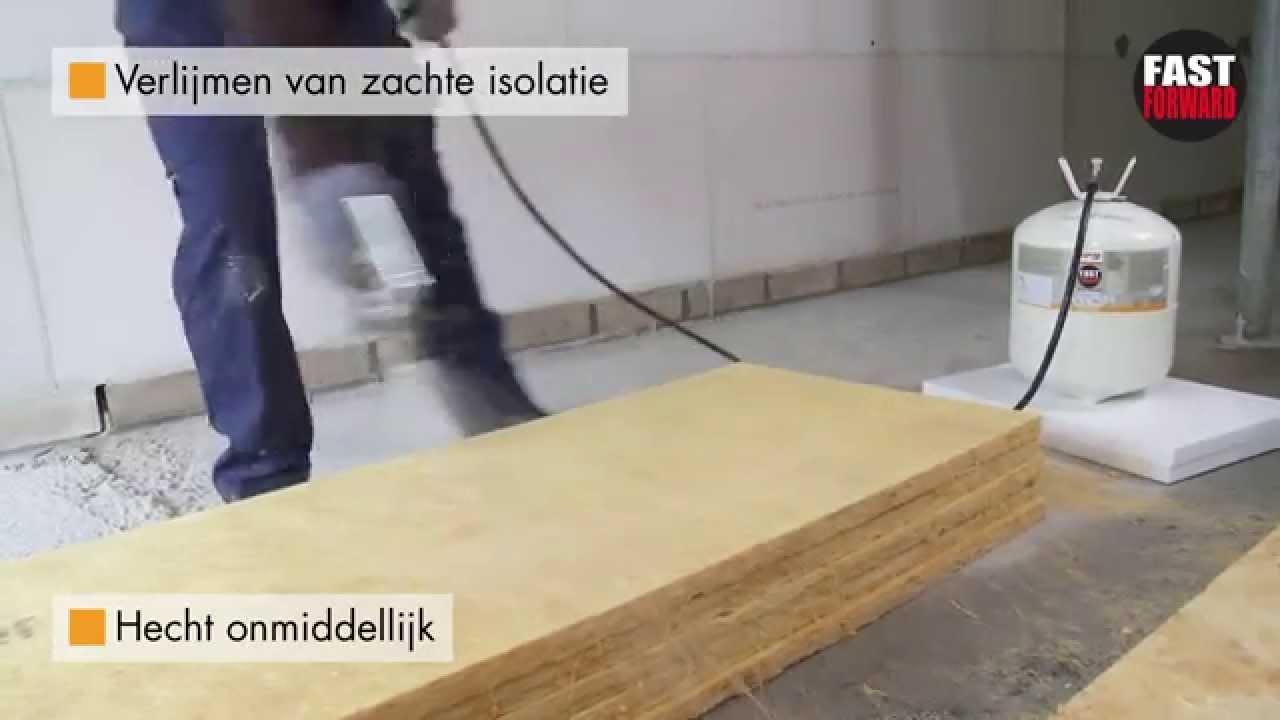 Rectavit fast forward verlijmen van zachte isolatie for Vijverfolie lijmen op beton