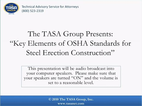 Key Elements in OSHA Standards for Steel Erection