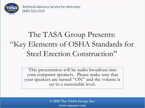 Key Elements in OSHA Standards for Steel Erection