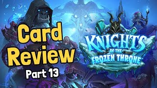 New Death Knight Hero Cards - Frozen Throne Card Review Part 13 - Hearthstone